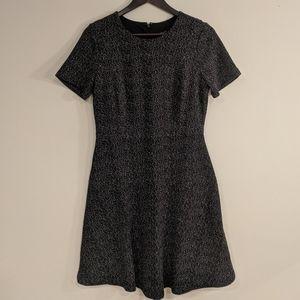 Anne Taylor Tweed Pattern Skater Dress